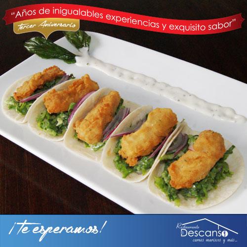 Deliciosos Tacos de Pescado #ElDescanso