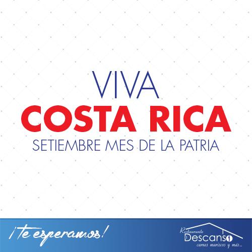 ¡Hoy celebramos a Costa Rica! ¡Feliz Independencia!