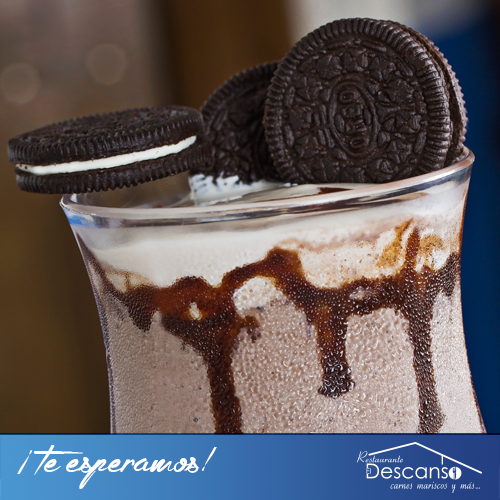Todos amamos las Oreo. Ven y disfruta de nuestro nuevo smoothie Oreo Cookie.