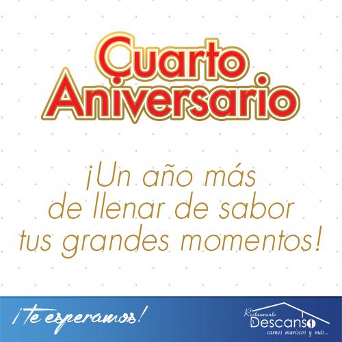 Cuarto aniversario del Restaurante El Descanso